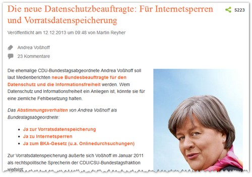 Screenshot Blogartikel: