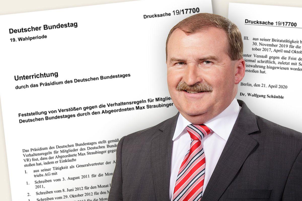 Max Straubinger (CSU), Rüge durch den Bundestagspräsidenten