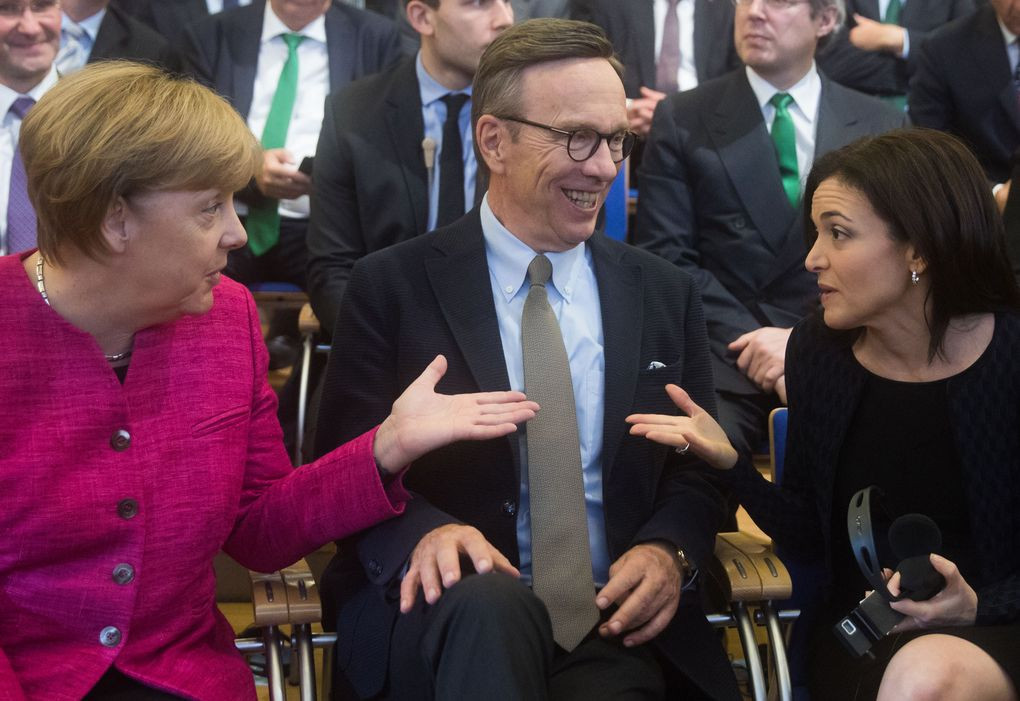 Angela Merkel und Facebook-Geschäftsführerin Sheryl Sandberg