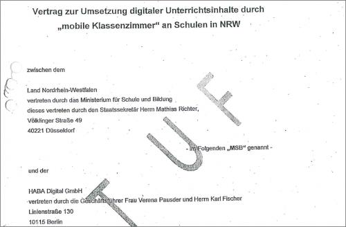 Vertragsentwurf mobile Digitalwerkstatt (Ausriss)